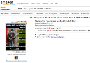 Guitar and Harmonica Method available on Amazon