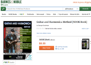 Guitar and Harmonica Method available at Barnes & Noble
