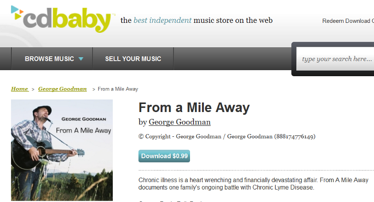 From A Mile Away CDBaby