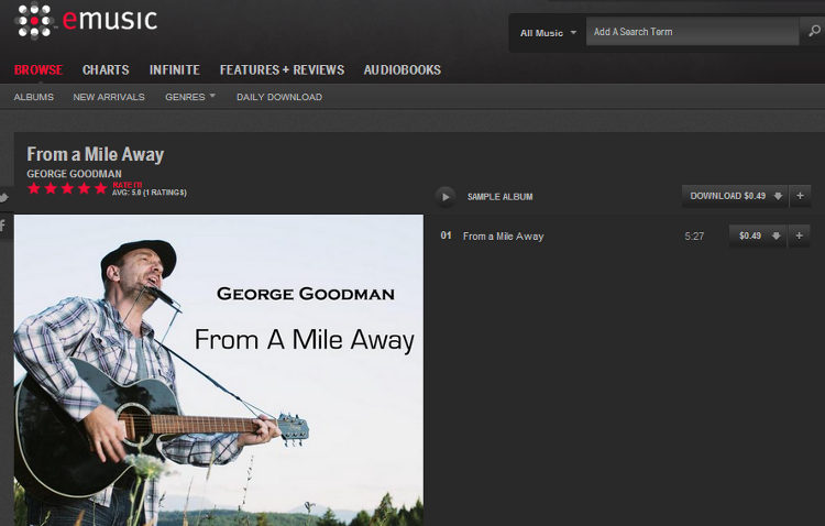 From A Mile Away eMusic